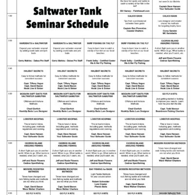 Accurate Saltwater Tank Seminars