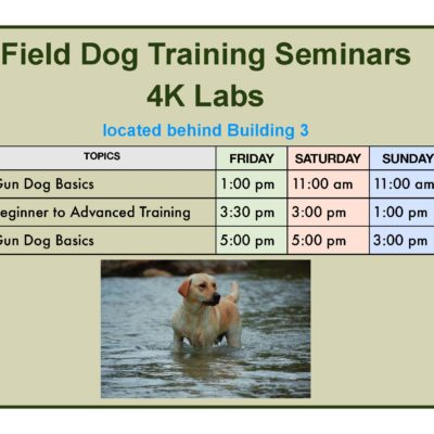 Field Dog Training Seminars